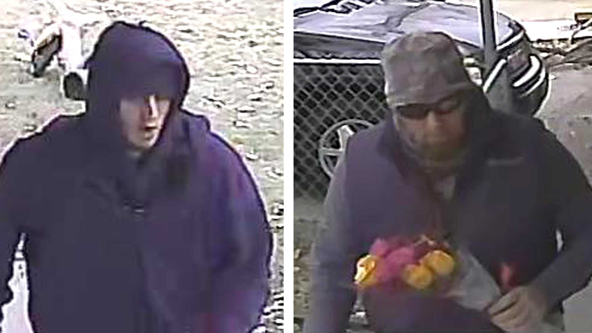 Placer County sheriff's investigators are looking for two men who broke into a Roseville area home on Wednesday, Feb. 1, 2017, and held a woman hostage while stealing valuables.