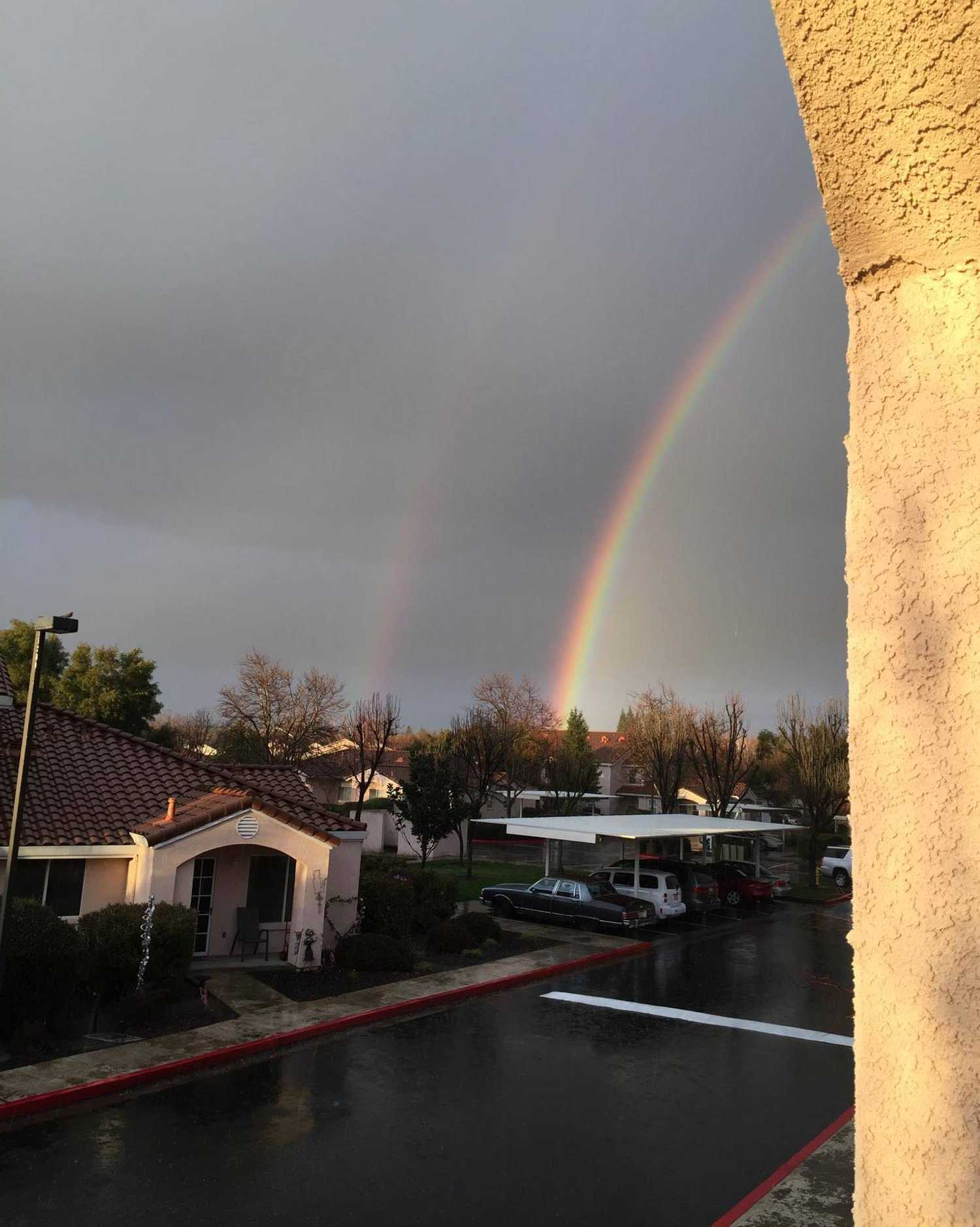 This double rainbow was spotted over Rocklin on Monday, Jan. 23, 2017.