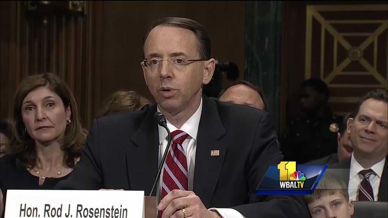 Rod Rosenstein confirmed as deputy attorney general