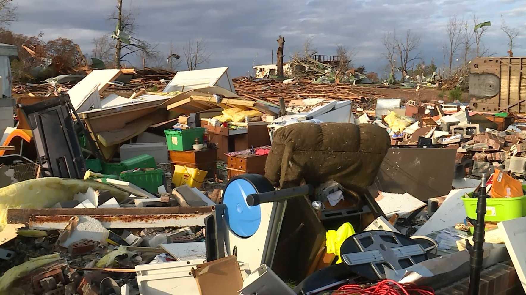 Rosalie, Ala. tornado damage