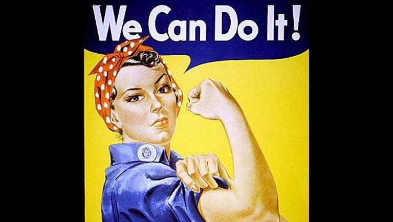 """We Can Do It"", aka Rosie the Riveter, World War II poster by J. Howard Miller"