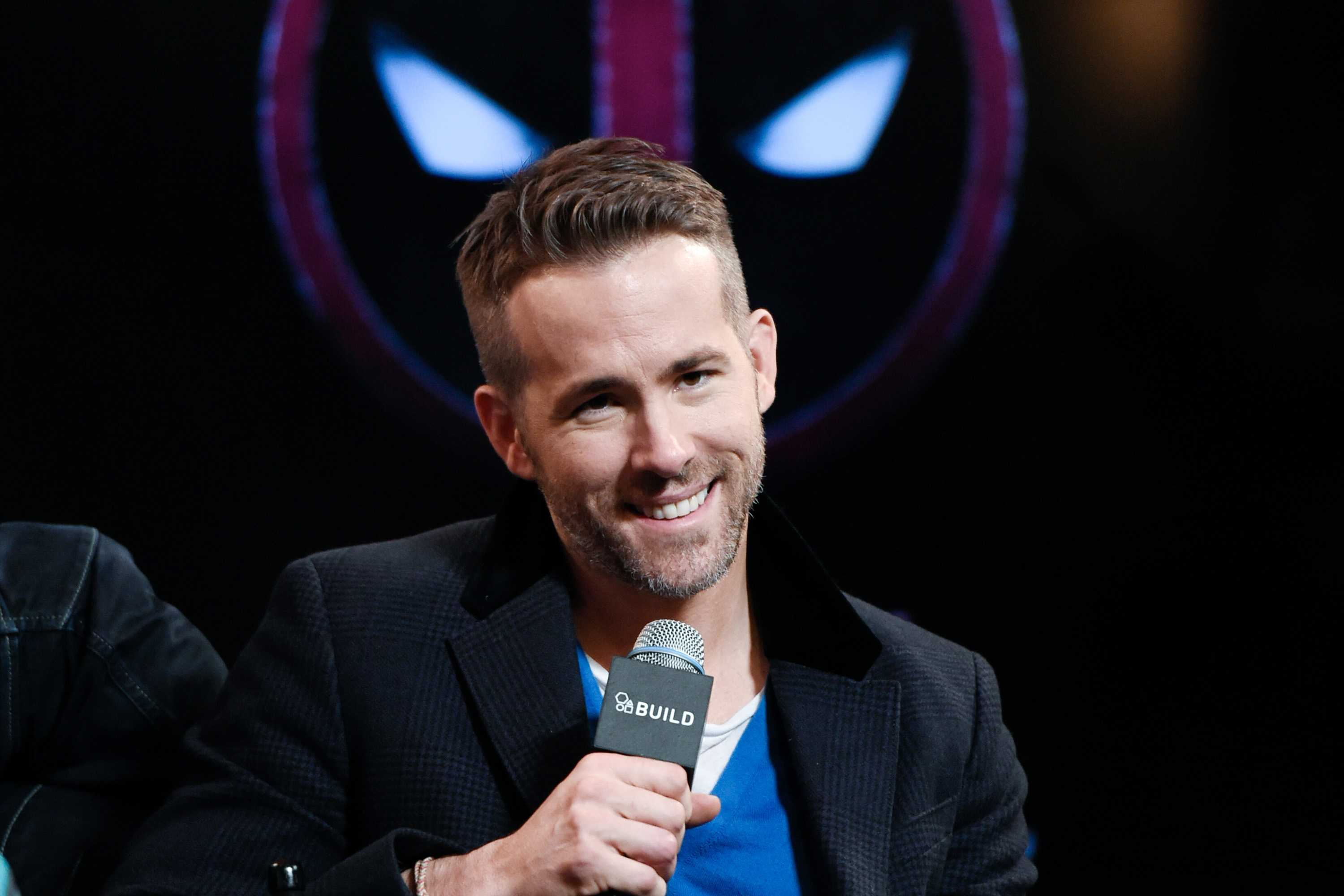 "Actor Ryan Reynolds participates in AOL's BUILD Speaker Series to discuss the film, ""Deadpool"", at AOL Studios on Tuesday, Feb. 9, 2016, in New York."