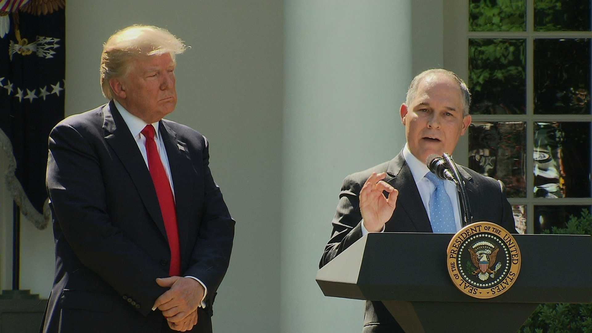 President Donald Trump and EPA Administrator Scott Pruitt at the White House.