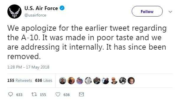 Air Force apologizes for 'Yanny or Laurel' tweet