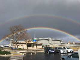 A double rainbow was spotted over Terminal B at the Sacramento International Airport on Monday, Jan. 23, 2017.