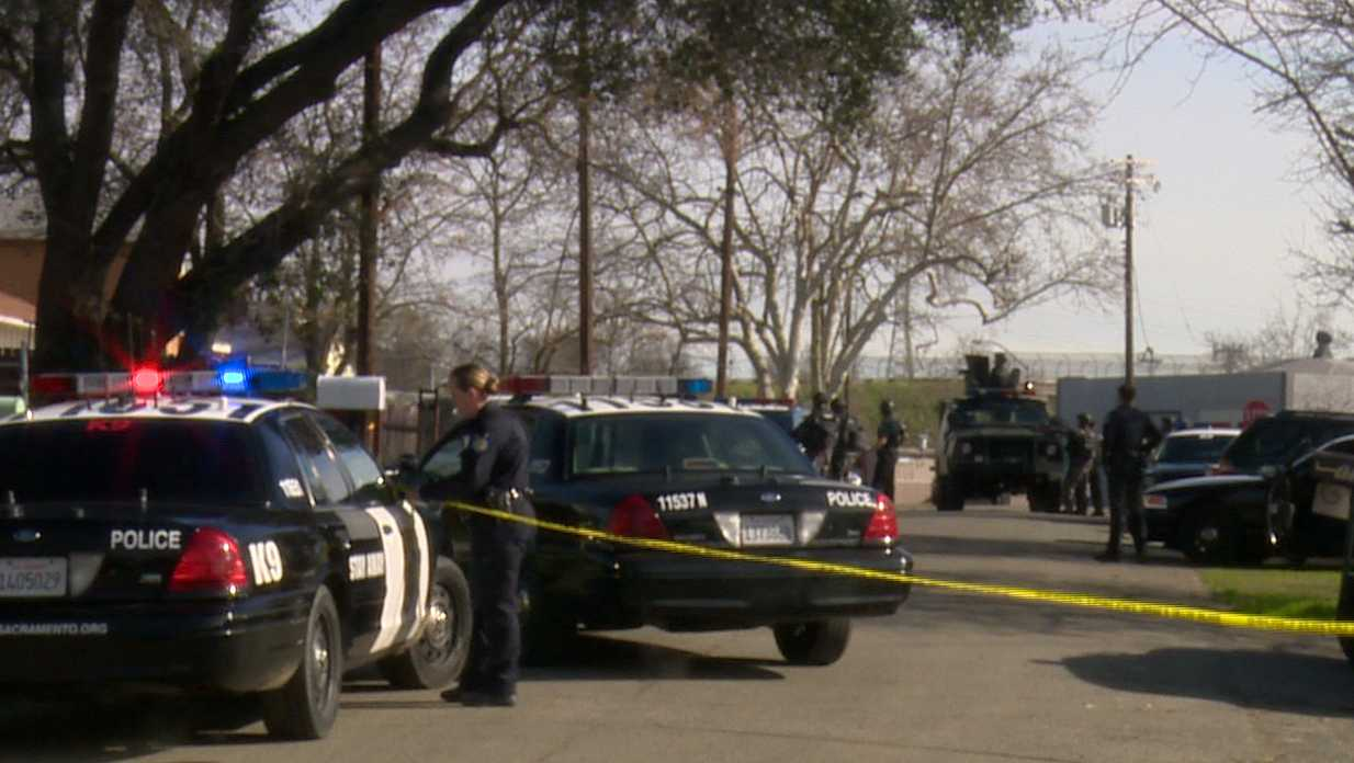 Sacramento police were at the scene of a standoff in the 1700 block of Eldridge Avenue Wednesday, Jan. 25, 2017, for nearly seven hours.