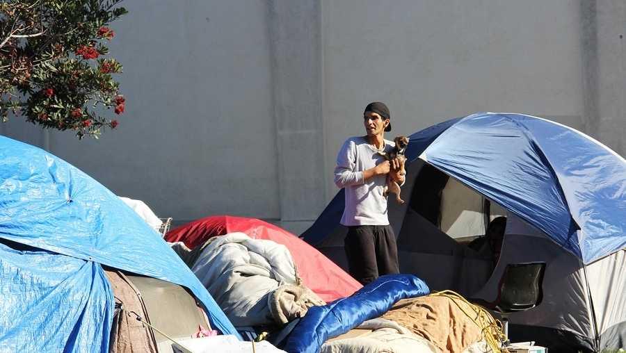 Salinas Chinatown homeless encampment