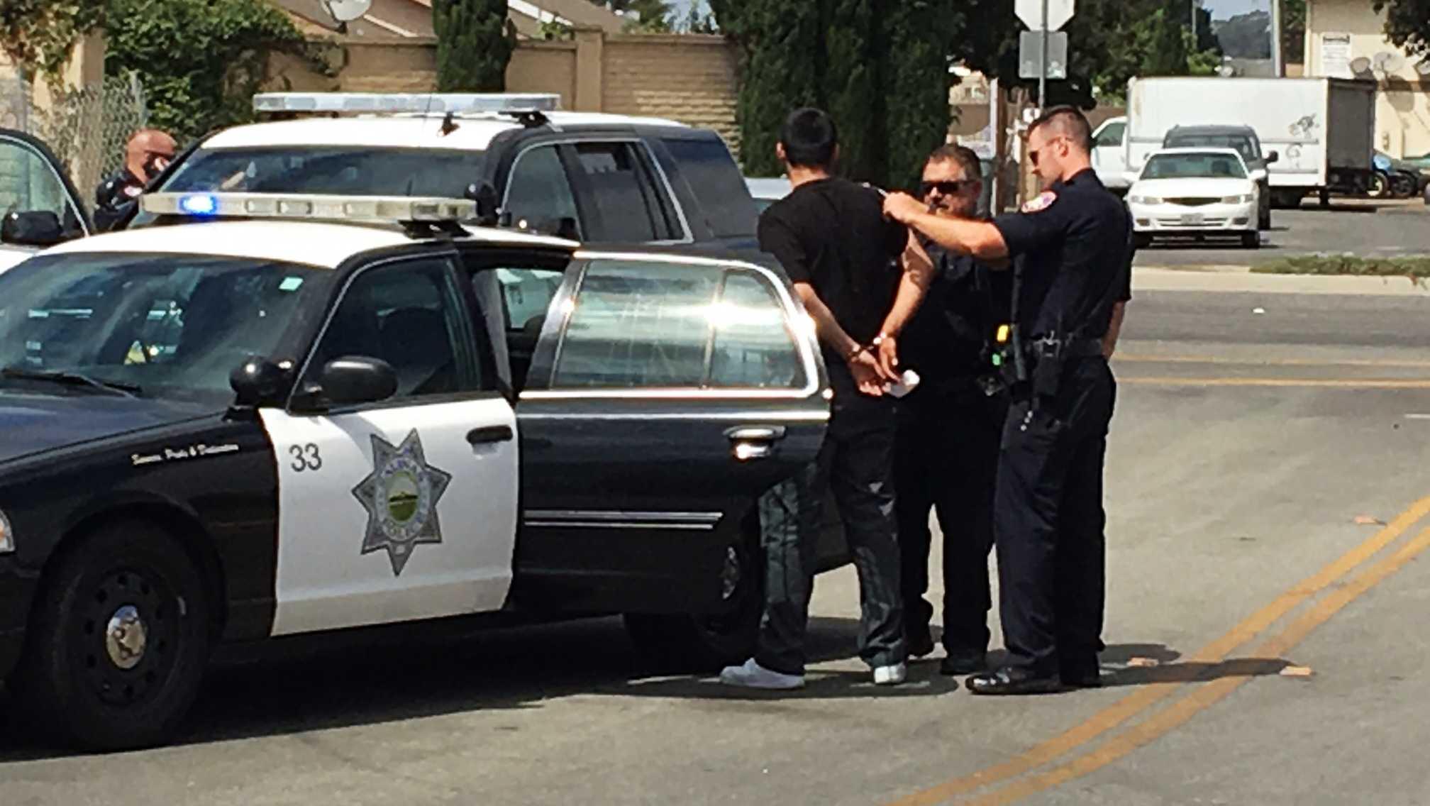 Salinas police take a suspect into custody