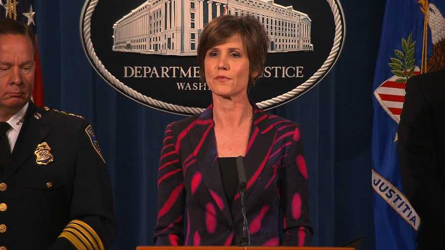 Image result for photos of sally yates at senate hearing