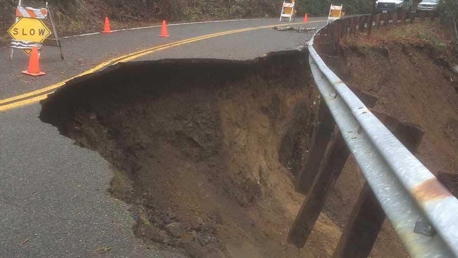 Salmon River Road erosion