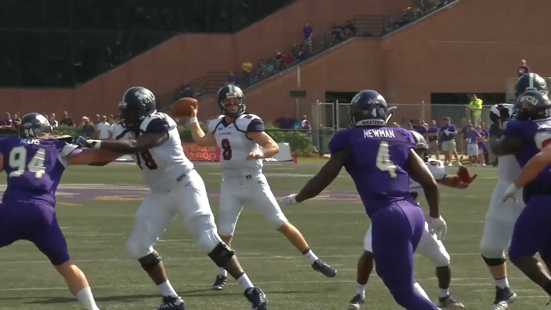 Samford QB Devlin Hodges threw for 516 yards and four touchdowns in the lost to Western Carolina on Saturday, Sept. 23, 2017.