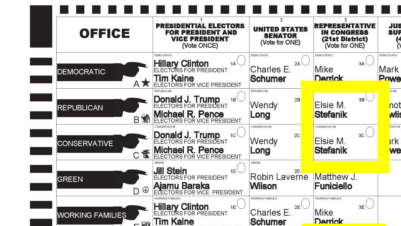 Warren County sample ballot