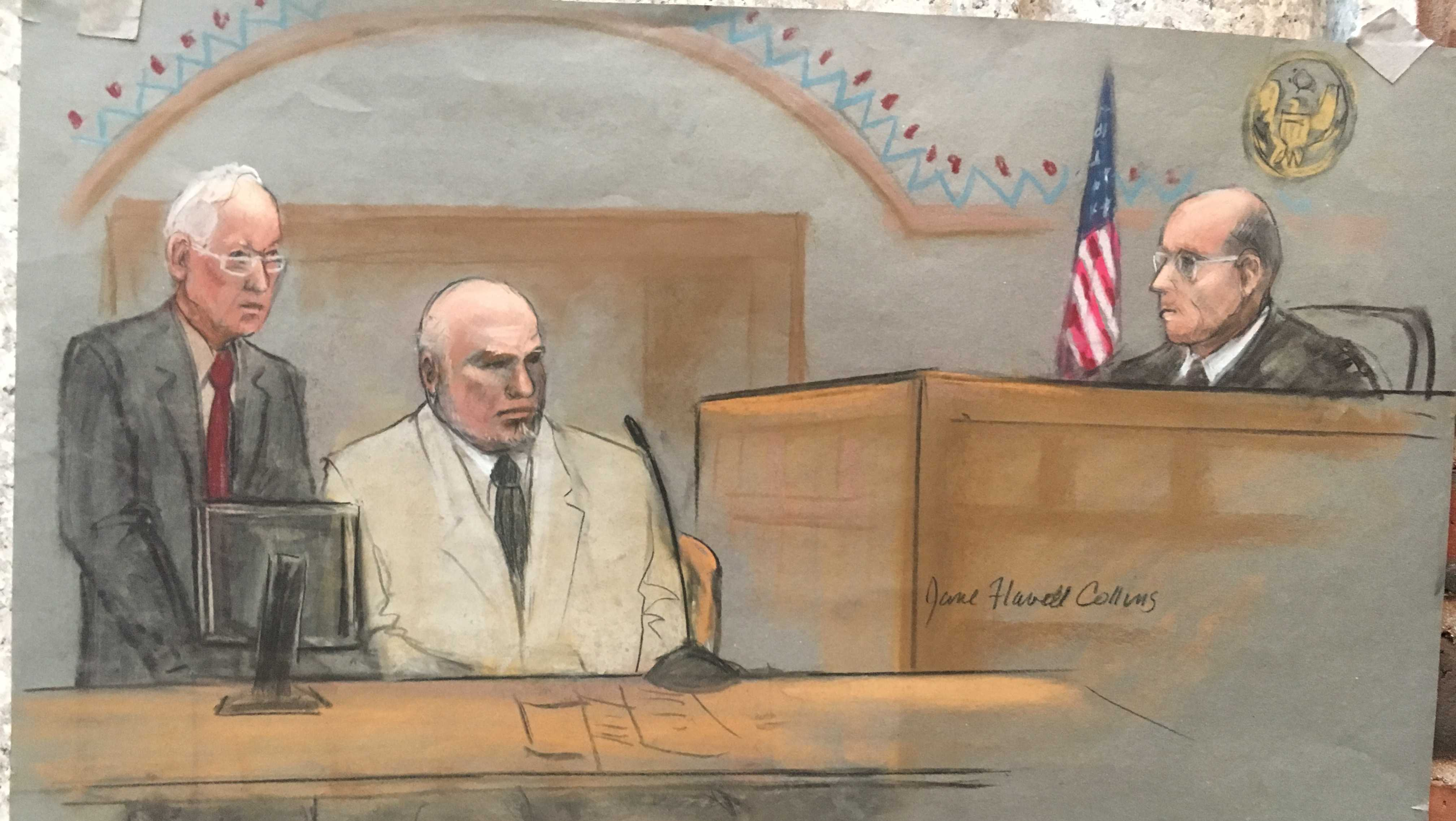 Gary Lee Sampson courtroom sketch