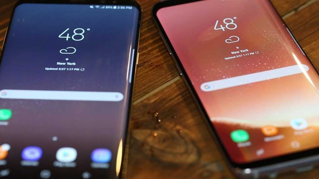 Samsung unveiled the Galaxy S8 and S8+ at an event in New York on Wednesday, March 29, 2017. The new phone displays are bigger than the Galaxy S7 and S7 Edge and they have curved screens that flow onto the sides.