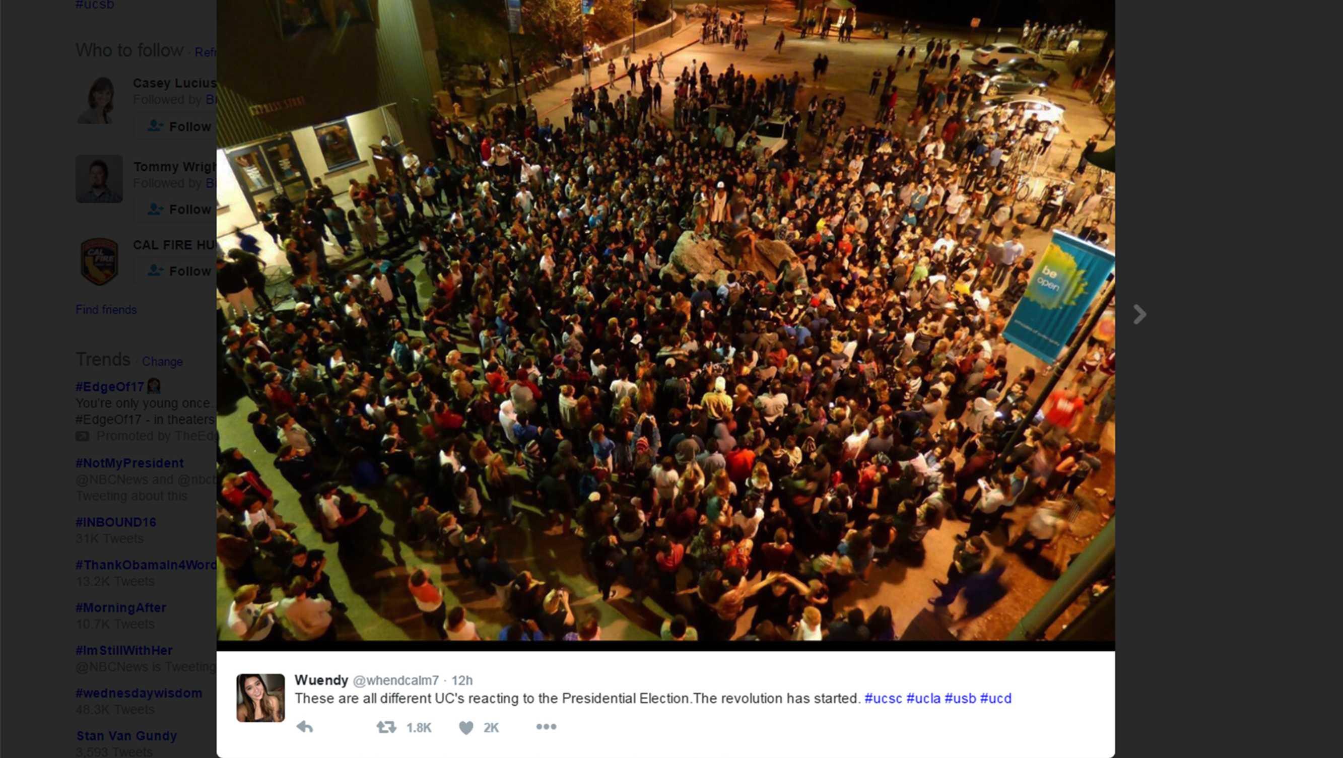 UC Santa Cruz protest