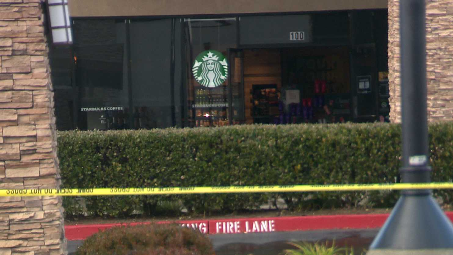 Roseville police rendered a suspicious package inside this Starbucks safe on Monday, Jan. 2, 2016.