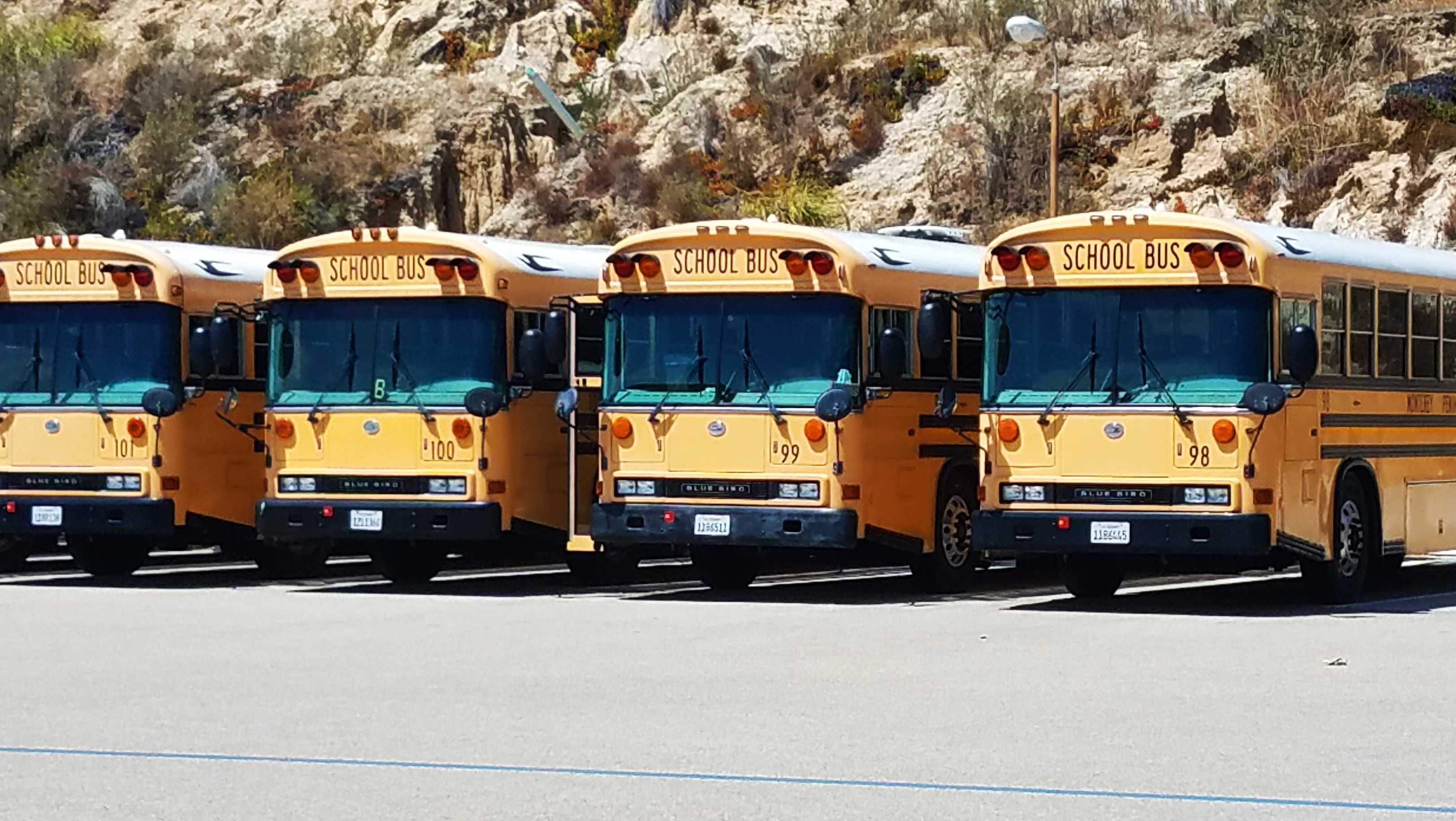 Monterey school bus yard