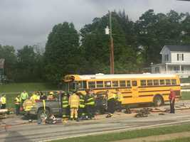 Greenville County School bus crash