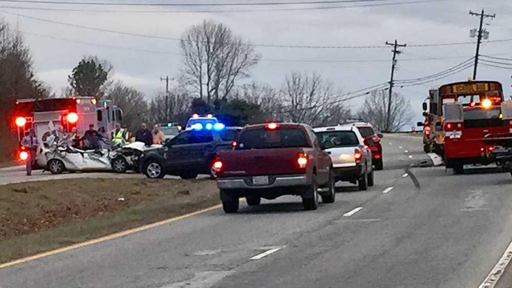 School bus involved in multi-vehicle crash