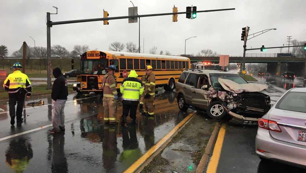 Glen Burnie school bus crash