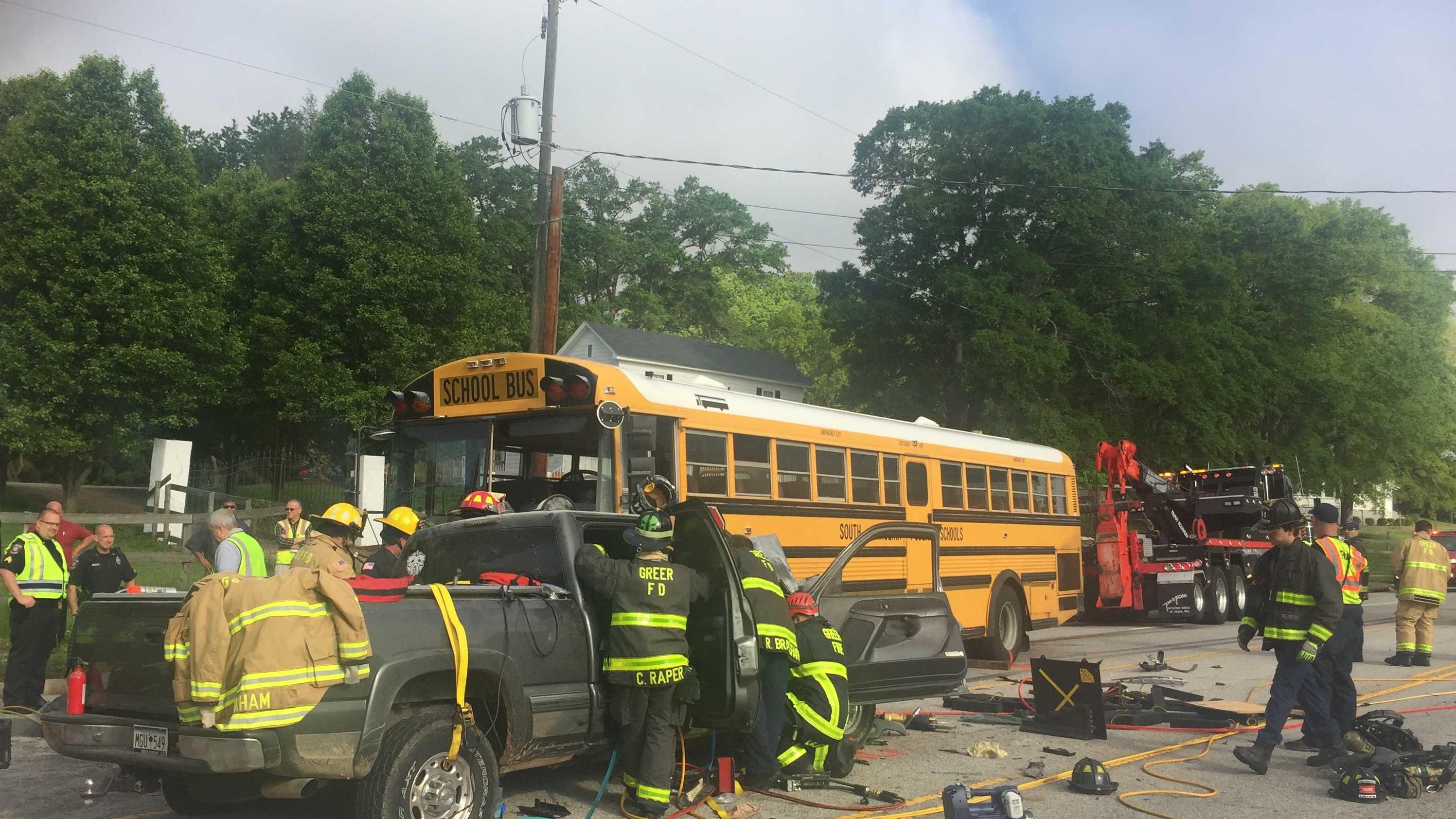 Greenville County School bus crash