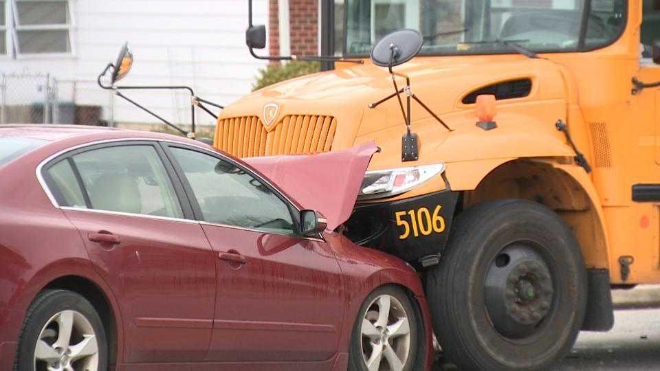 School bus collision on Offutt Road