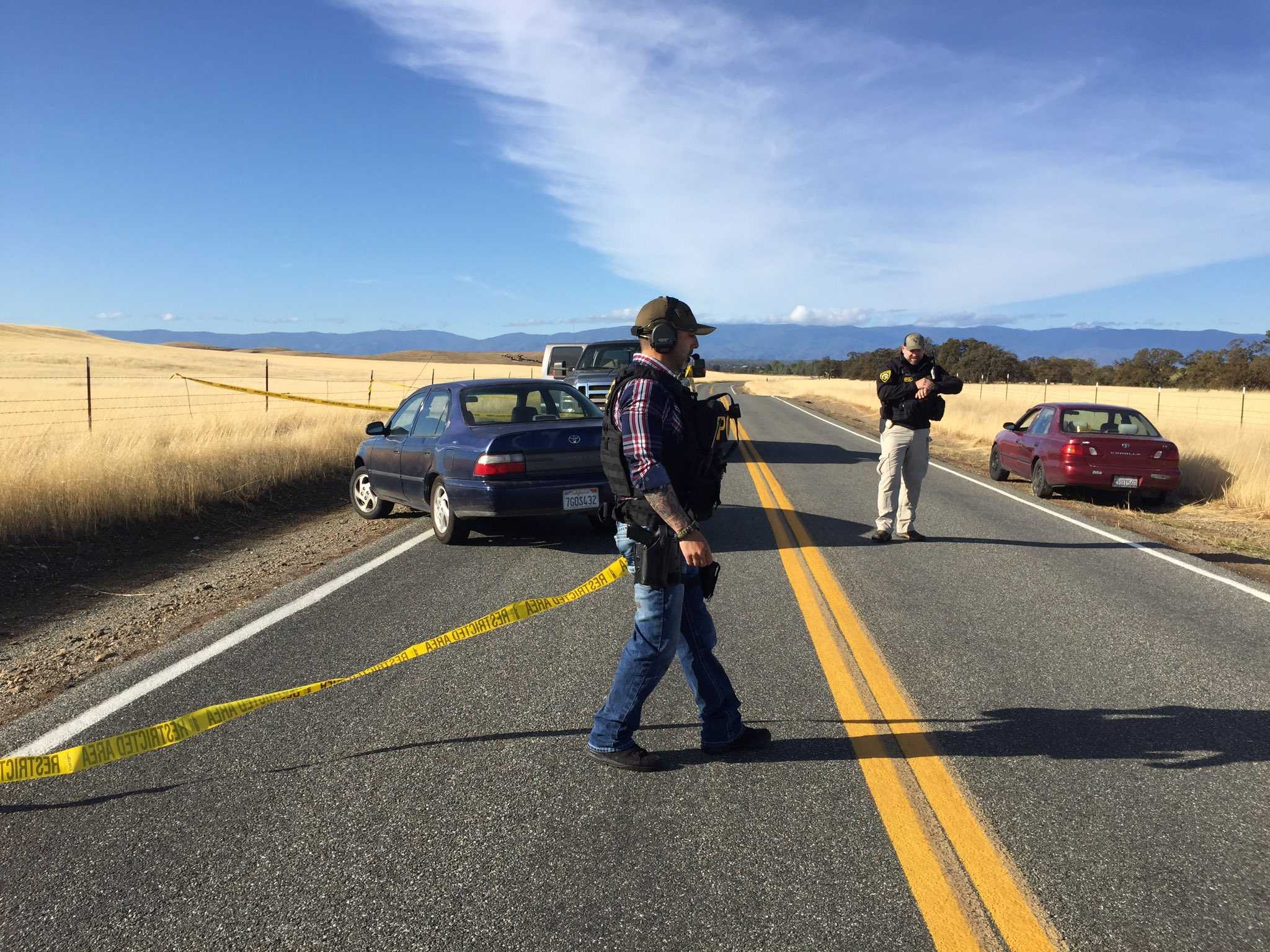 Five dead following shootings in rural California