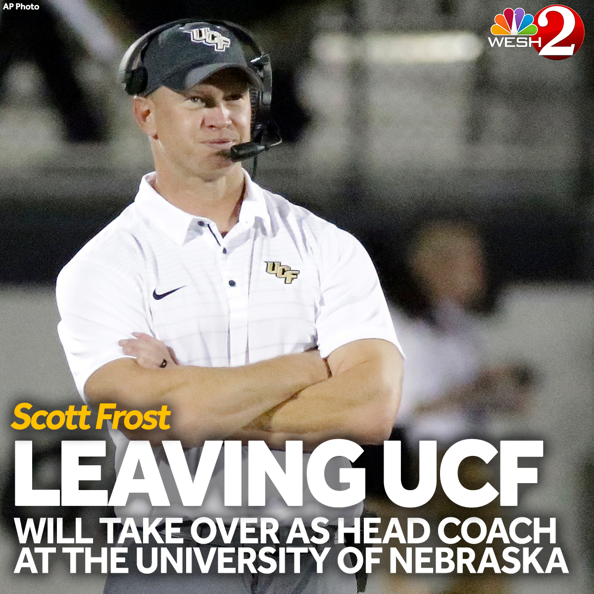Nebraska reportedly hiring UCF's Scott Frost as new head coach