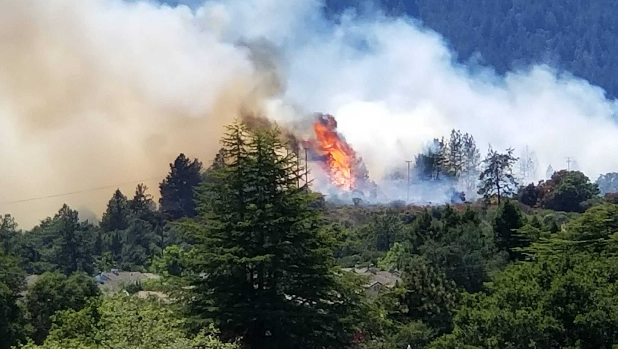 Scotts Valley wildfire