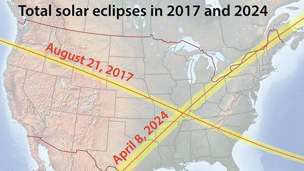 Cities That Will Have A Total Solar Eclipse In - Total eclipse us coverage map