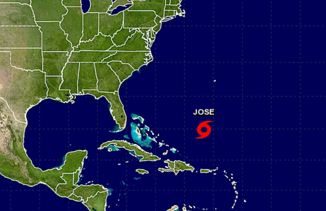 Jose weakens to a tropical storm: NHC