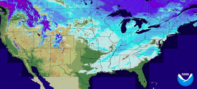 See how much of the southeast US has had more snow than