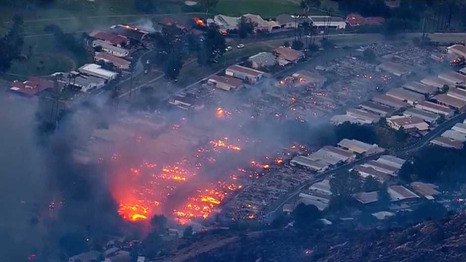 Lilac Fire burns many homes