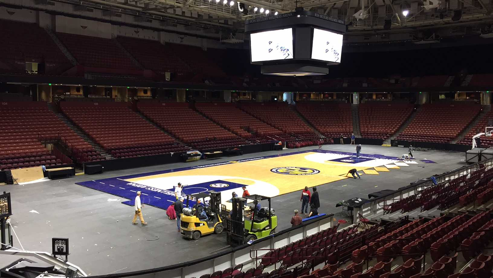 SEC Women's Basketball Tournament floor
