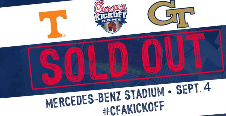 Hot ticket: Tennessee-Georgia Tech game in Atlanta officially sold out