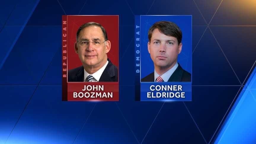 Senator John Boozman and candidate Conner Eldridge