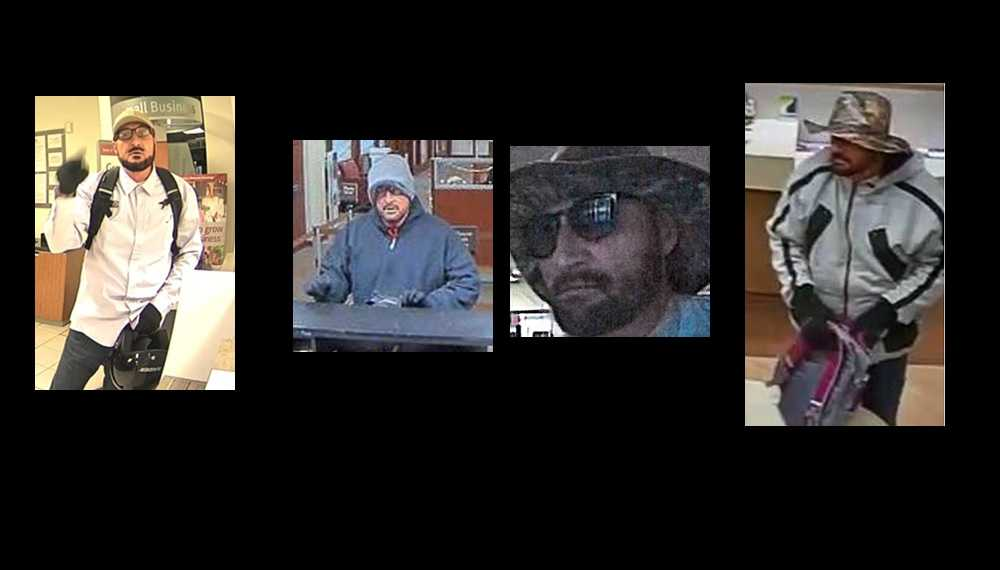 Federal Bureau of Investigation looking for 'chameleon beard bandit' wanted in NC, 3 other states