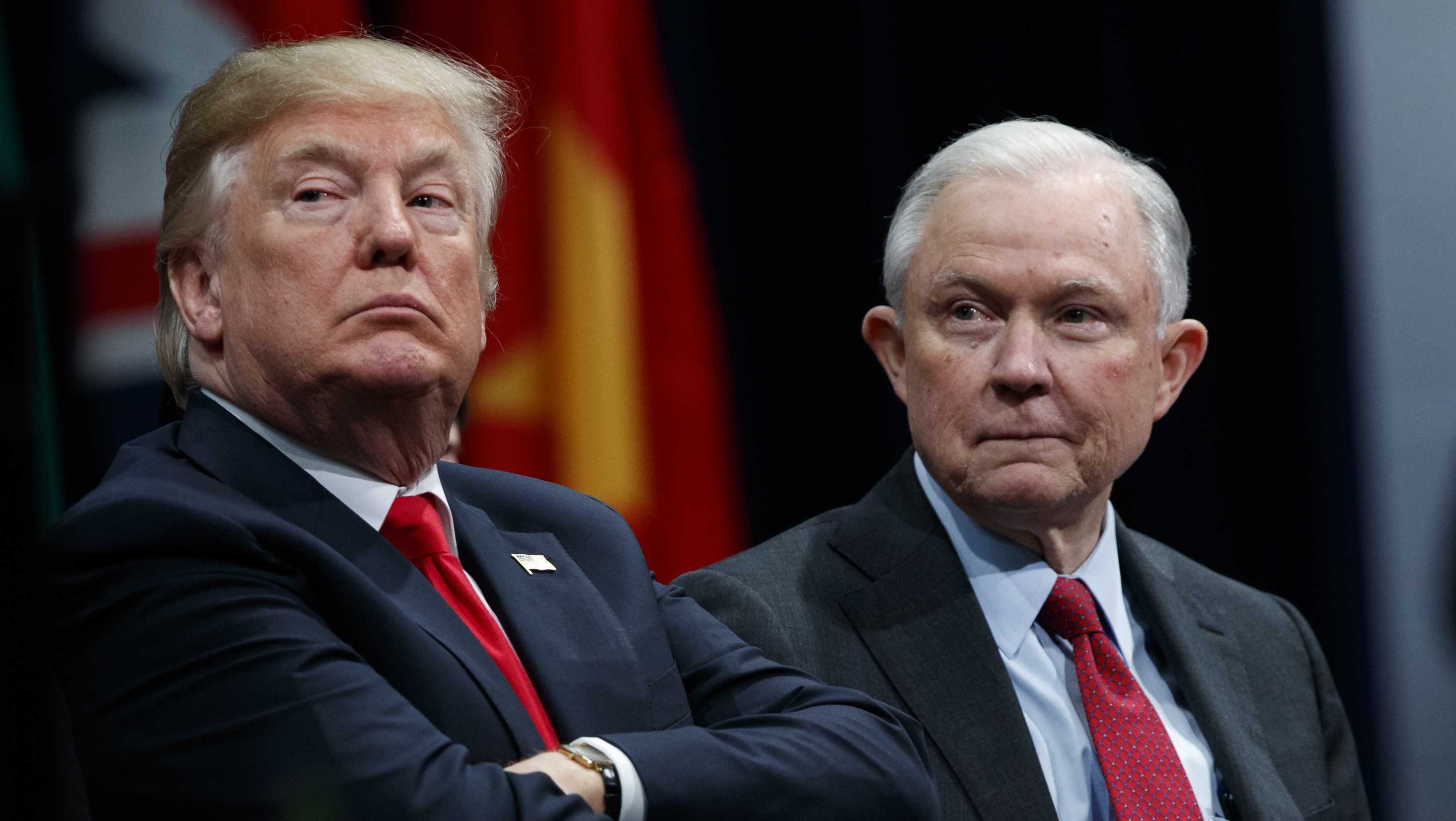 President Trump and U.S. Attorney General Sessions
