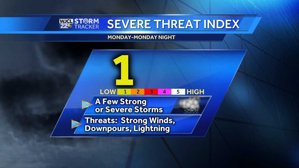 Severe threat index Monday									SOURCE Severe threat index Monday