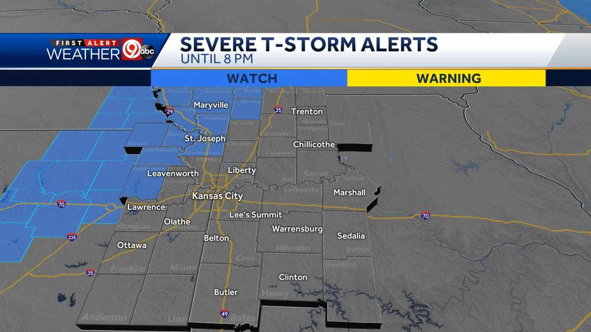 LIVE UPDATES: Severe thunderstorm watch issued for parts