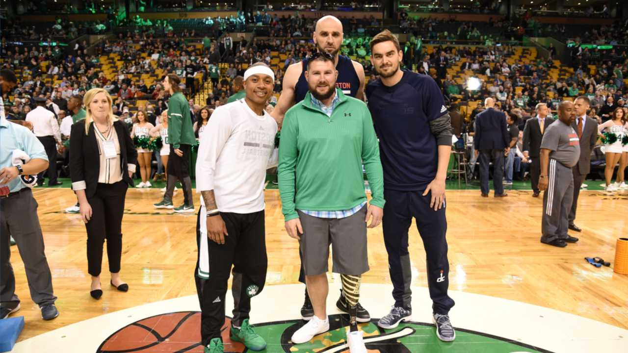 Sgt. David Bronson was honored by the Celtics