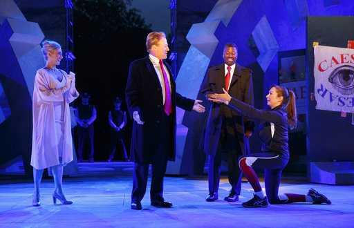 Does the Public Theater's Trump-like 'Julius Caesar' go too far?
