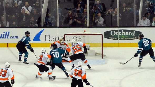 Sharks vs Flyers in December 2016