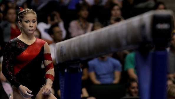 Shawn Johnson competes on the balance beam during the Senior Women's competition on day four of the Visa Gymnastics Championships at Xcel Energy Center on August 20, 2011 in St Paul, Minnesota.
