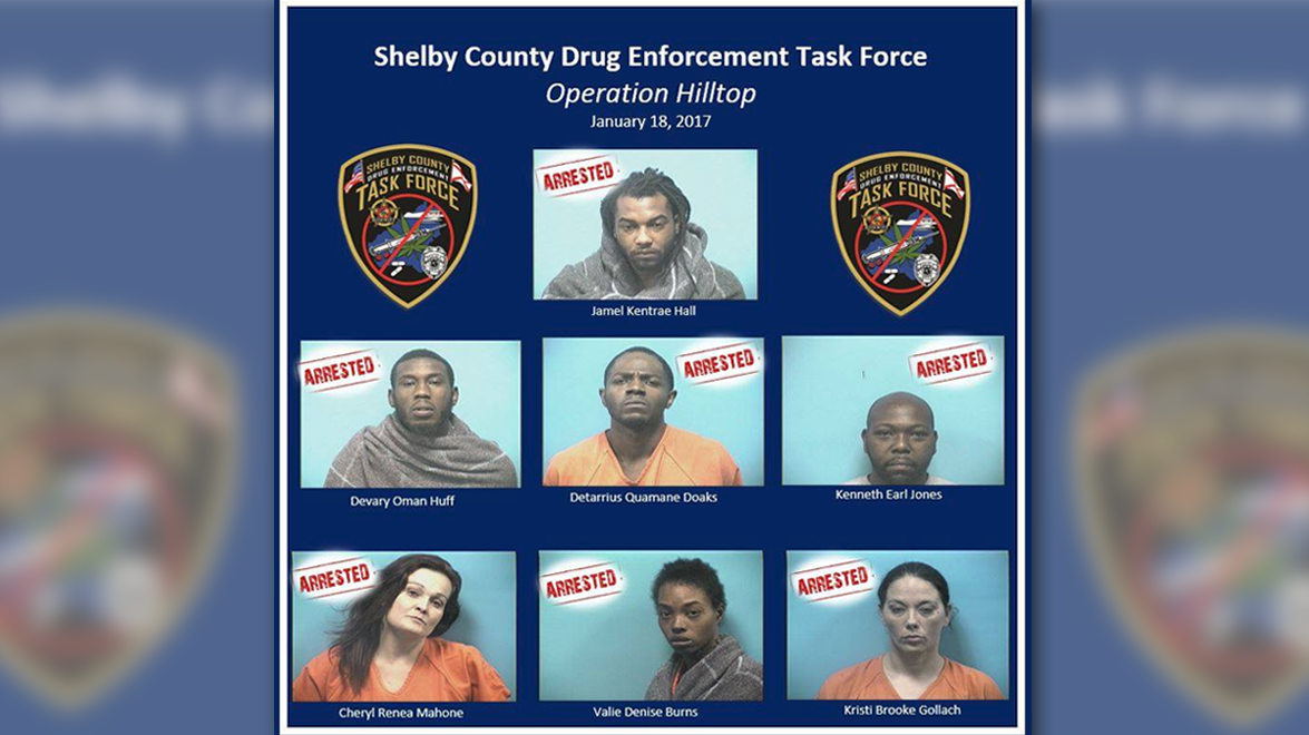 Drug arrests in Shelby County