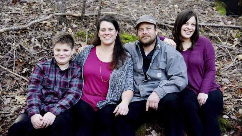 The Shepherd family: Kai, left, Sara, Jon, and Kressa, right