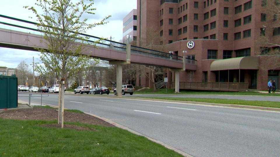 Sheraton and Towsontown Center pedestrian bridge