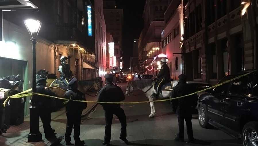 10 people shot at New Orleans' Bourbon Street, police say