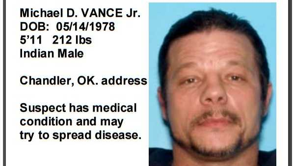 Wanted poster for Michael Vance