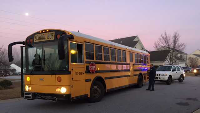 Simpsonville school bus crash
